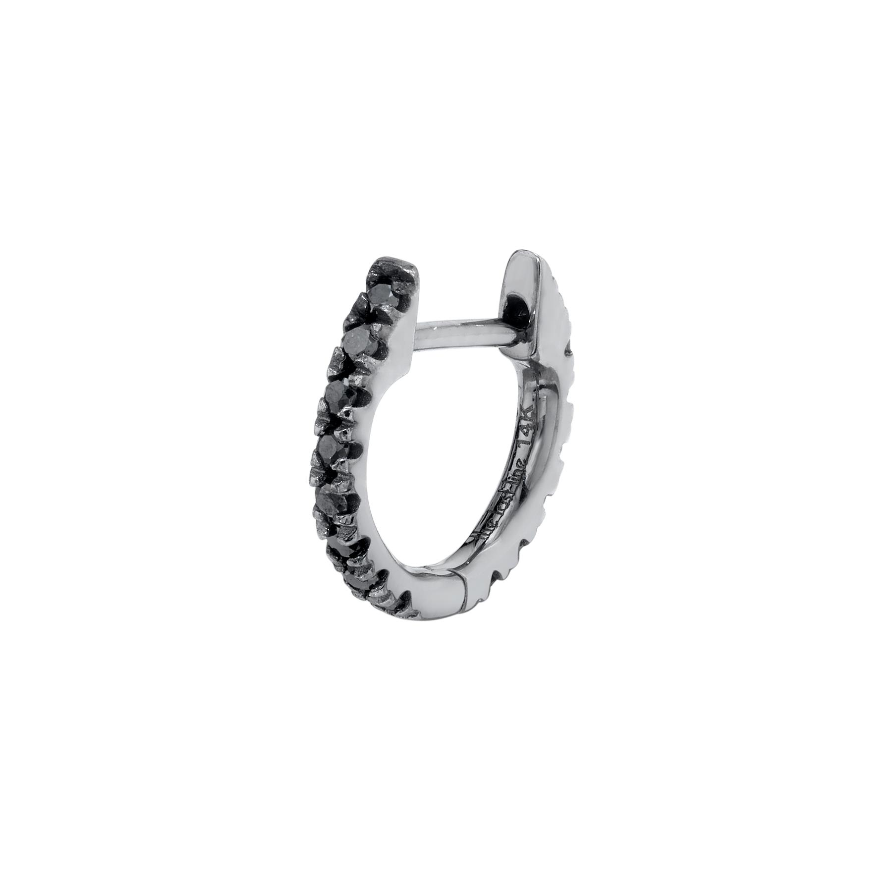 MEDIUM BLACK DIAMOND HUGGIE EARRING