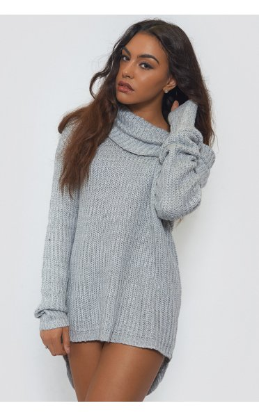 huge range of moderate cost san francisco Oversized Grey Bardot Jumper - from The Fashion Bible UK