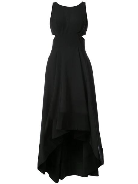 Aidan Mattox gown women spandex black dress