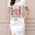 Cotton Short Sleeve Front Slit Hem Print Casual Dress : KissChic.com