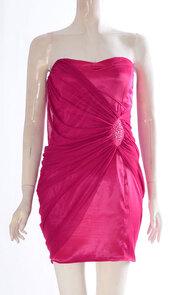 dress,womens strap less bodycon boob tube diamntee mesh bandeau short mini dress pink