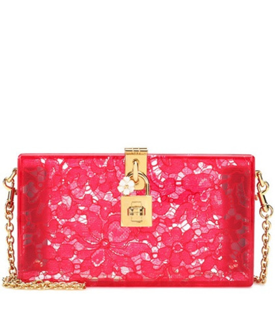Dolce & Gabbana Dolce Box lace clutch in pink