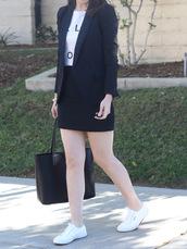 skirt,bodycon skirt,mini skirt,weave skirt,blazer,t-shirt,blogger,blogger style,plimsolls,tote bag,slogan t-shirts