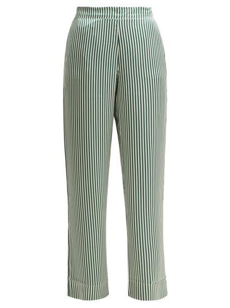 silk green pants