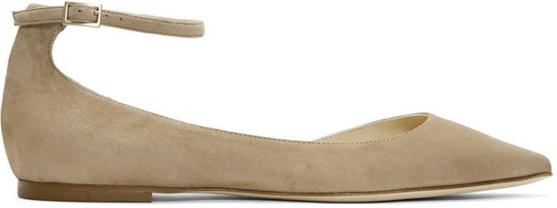 Jimmy Choo flats suede beige shoes