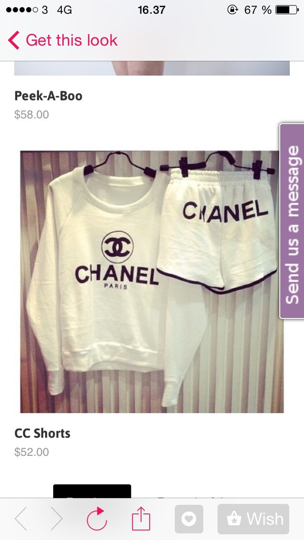 chanel chanel shorts black and white style suit relaxing outfit classic chanel sweater jogging suit