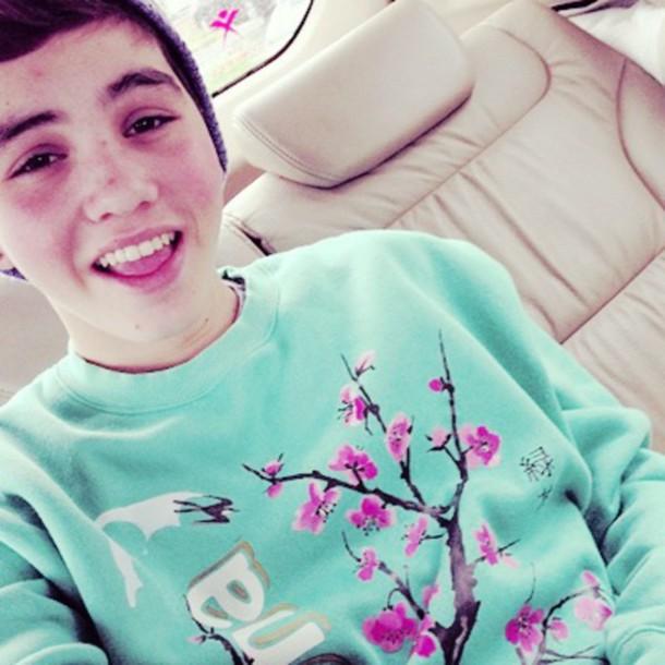 sweater Sam pottorff mint cherry blossom mens sweater arizona arizona tea tea youtube youtuber