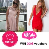 dress,pink dress,contest,www.ustrendy.com,ustrendy,pastel pink,pink,v neck dress,sexy dress,clubwear,red dress,bodycon dress,cute,fashion,style,trendy,draped,party dress,cute dress,sunglasses,lace dress,leggings,tank top,jumpsuit,earphones,bag,belt,jeans,jewels,cardigan,sweater,shoes,make-up,phone cover,hat