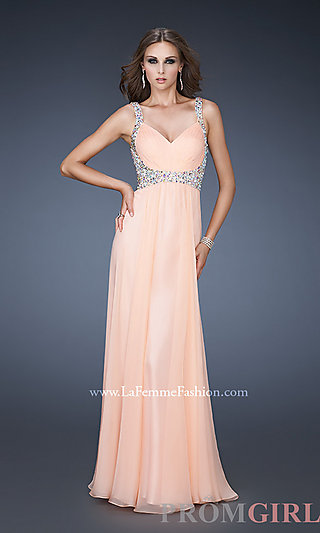 Prom dresses, celebrity dresses, sexy evening gowns at promgirl: chiffon sweetheart formal gown