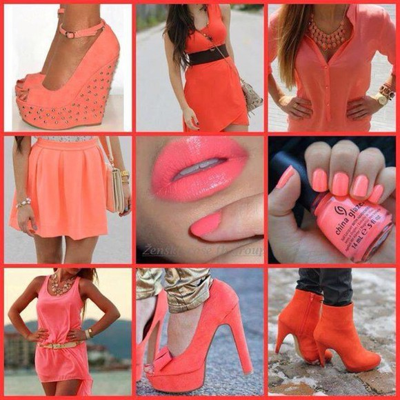 nail polish nail high heels boots corail orange little dress party dress prom dress Belt night sun summer outfits classy style jewels naik polish mini skirt little skirt sexy dress sexy skirt make-up