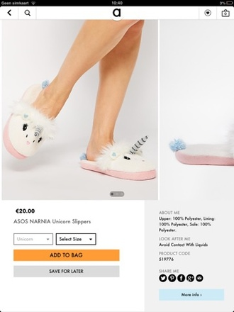shoes unicorn slippers cute shoes horse white pink blue shoes silver want them asos
