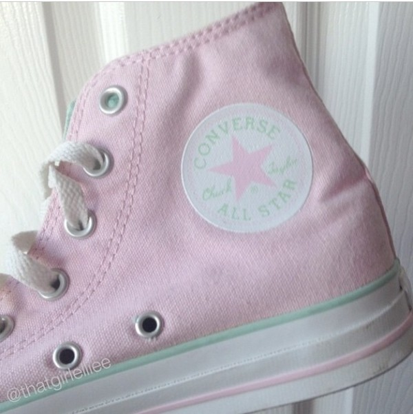 shoes fashion pink converse