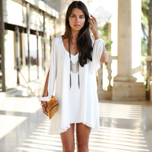 Sleeved chiffon dress gg716ce