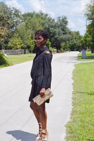 chicstylez360 blogger dress shoes bag jewels sandals high heel sandals clutch fall outfits little black dress
