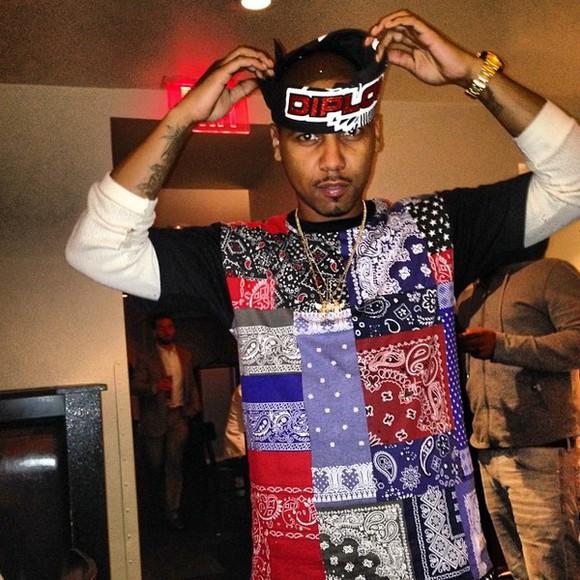 bandana shirt colorful chain