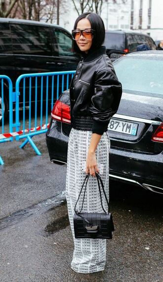 pants wide-leg pants streetstyle fashion week 2016 paris fashion week 2016