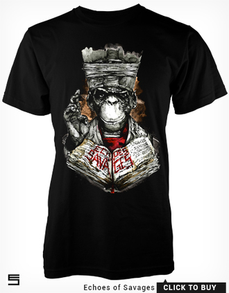 t-shirt illustration ape monkey primate art design priest pope religious non-religious iconography