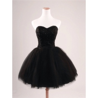 prom dress homecoming dress cocktail dresses short party dresses party dress black dress black tulle skirt bustier dress