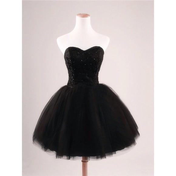 tulle skirt party dress black prom dress homecoming dress cocktail dresses short party dresses black dress bustier dress