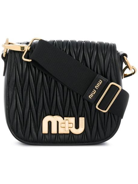 Miu Miu metal women bag shoulder bag leather black
