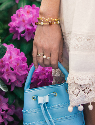 jewels gold ring blue bag tumblr jewelry gold jewelry bracelets gold bracelet ring bag accessories accessory