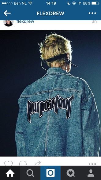 jacket justin bieber purpose tour purpose denim jacket justin bieber shirt