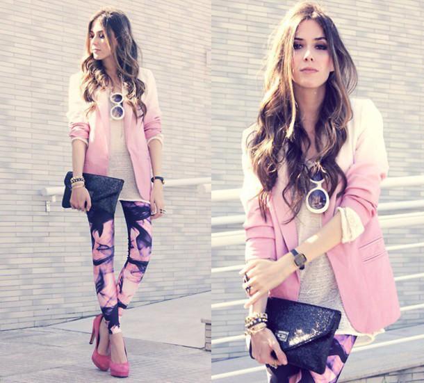 jacket gradient pink blazer