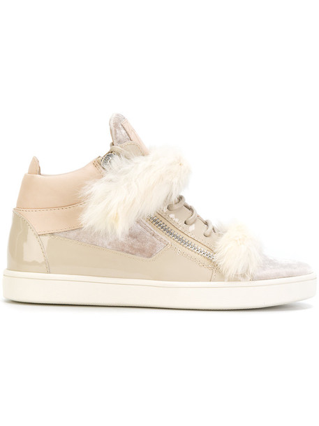 fur women sneakers leather nude shoes