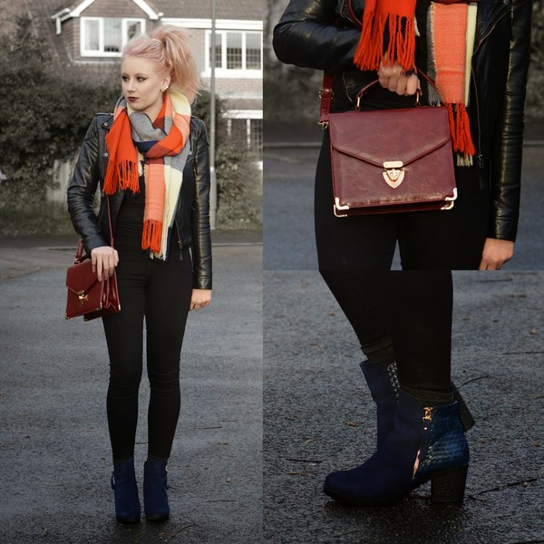 sammi jackson shoes bag scarf jacket jeans