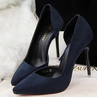 shoes women lady fashion high heels party gorgeous dress party dress match sexy dark blue black pink rose blue purple green girly