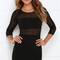 Perfect mesh black bodycon dress