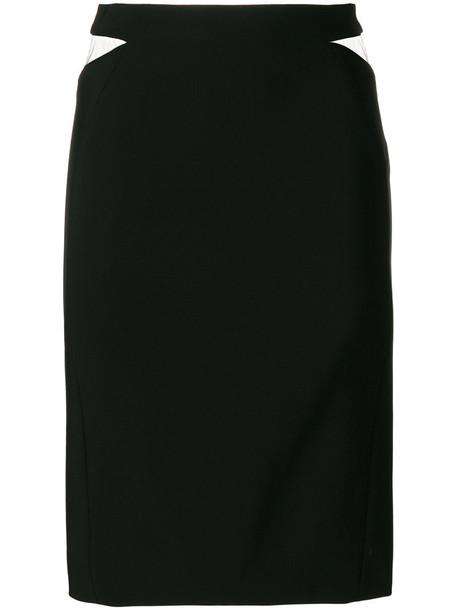 MUGLER skirt cut-out mesh women spandex black