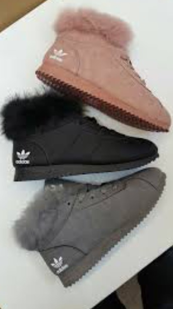 shoes adidas fur lined sneaker boots