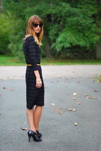 jess style rules sweater dress shoes belt sunglasses