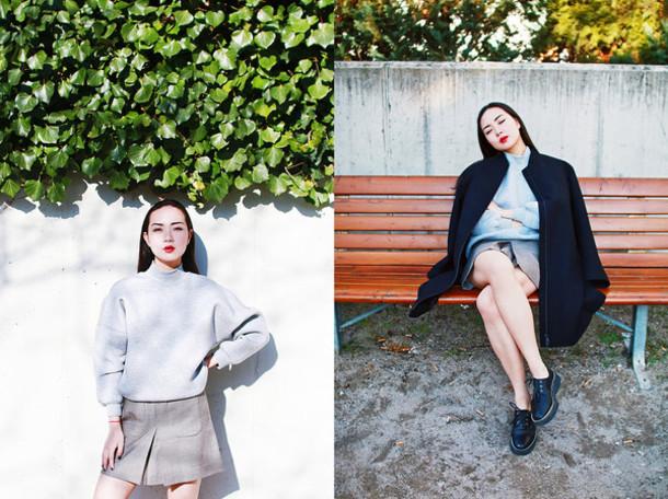 elle victoire blogger jacket skirt shoes