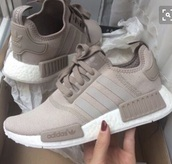 shoes,beige,adidas shoes,adidas nmd