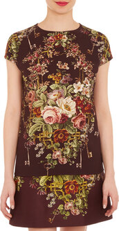 top,dolce and gabbana,floral-print cap sleeve top