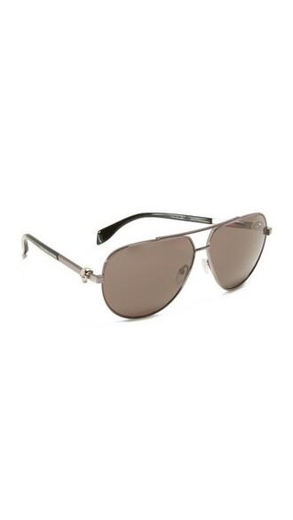 skull smoke sunglasses aviator sunglasses