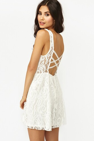 dress white dress lace white white lace dress criss cross criss cross back open back