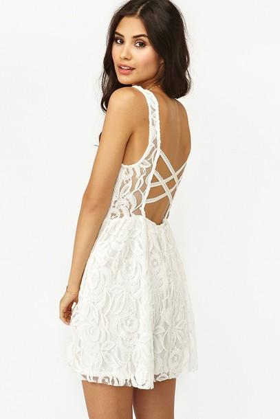 White dress lace white white lace dress criss cross criss cross open