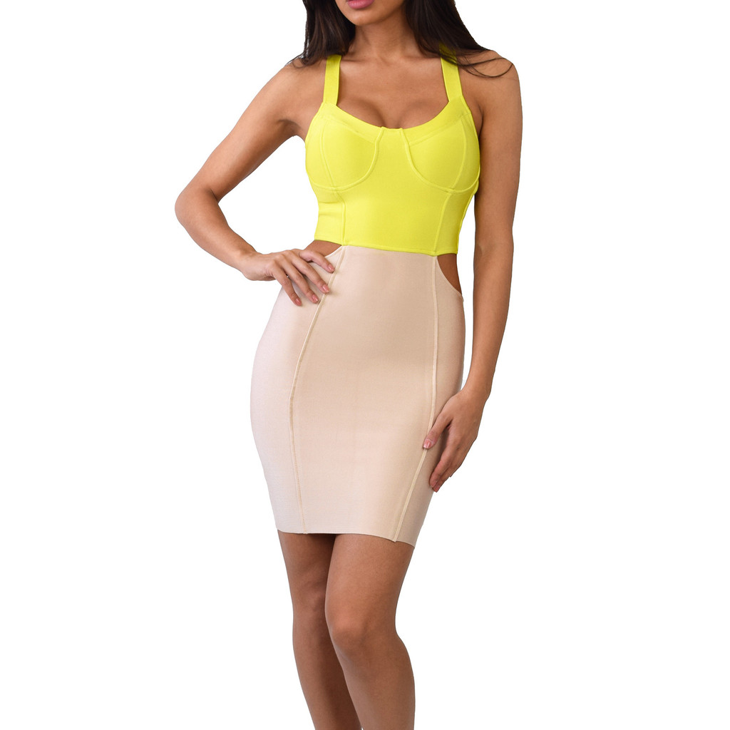 The Jade Cut Out Bandage Dress | Emprada
