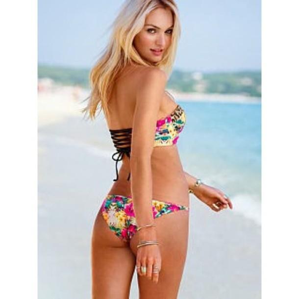 swimwear bikini coral bikini