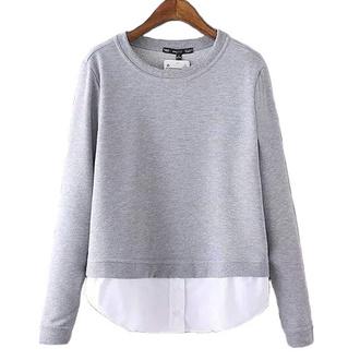 top brenda-shop sweater sweatshirt grey pullover elegant casual office outfits sportswear