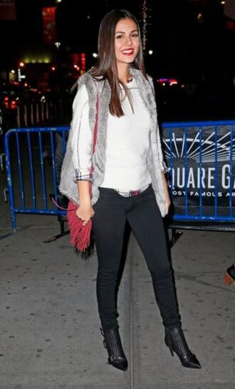 sweater victoria justice fall outfits fall sweater vest