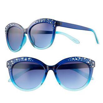 sunglasses blue turquoise glitter