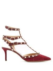 suede pumps,pumps,suede,burgundy,shoes