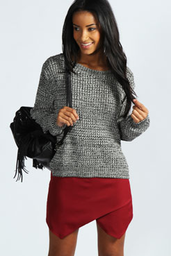 Rioja Woven Tailored Skort at boohoo.com