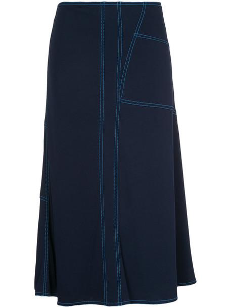 MARNI skirt midi skirt women midi blue silk