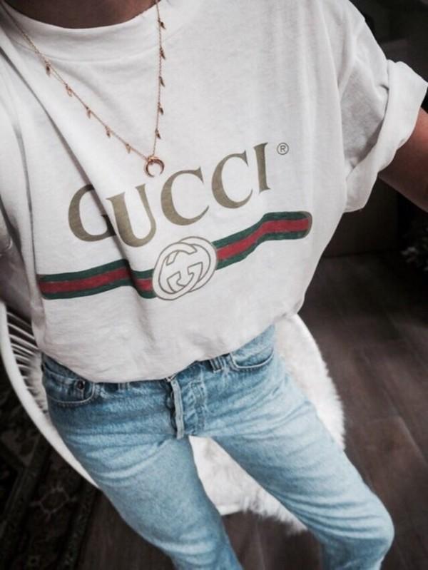 56b393326 shirt t-shirt t-shirt white gucci t-shirt red green gold gucci