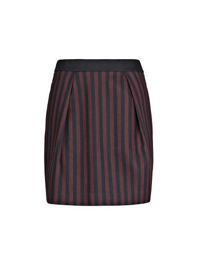 MANGO - CLOTHING - Skirts - High-waist striped miniskirt